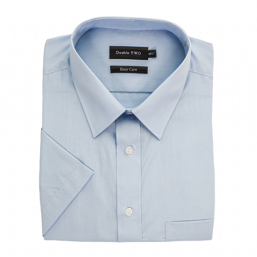 Short Sleeved Shirt in Glacier Blue in Big Sizes