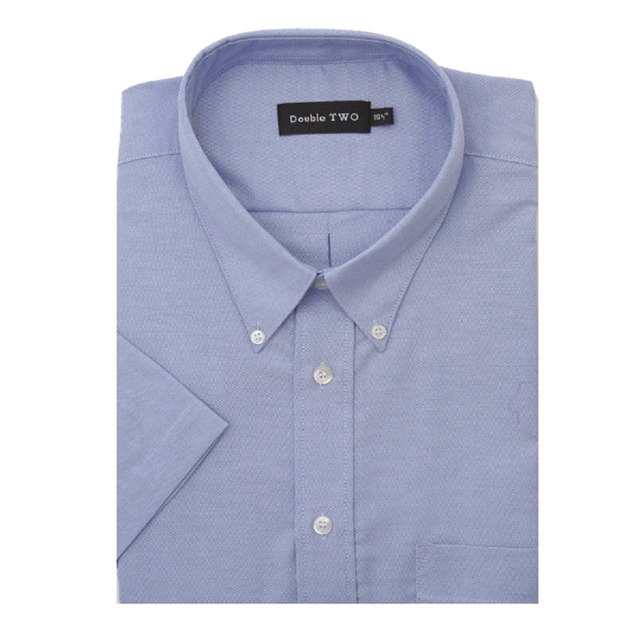 Short Sleeved Oxford Shirt in Big Sizes