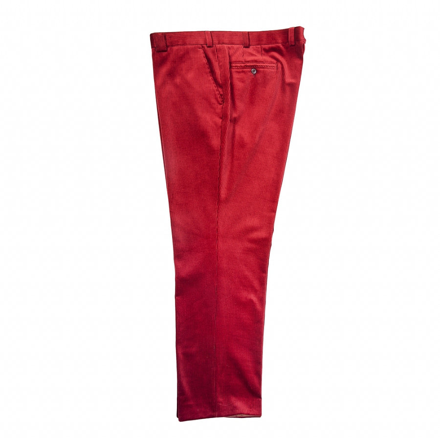 Barry Stretch Cords for Men in Deep Red for 46 - 52 ins Waist