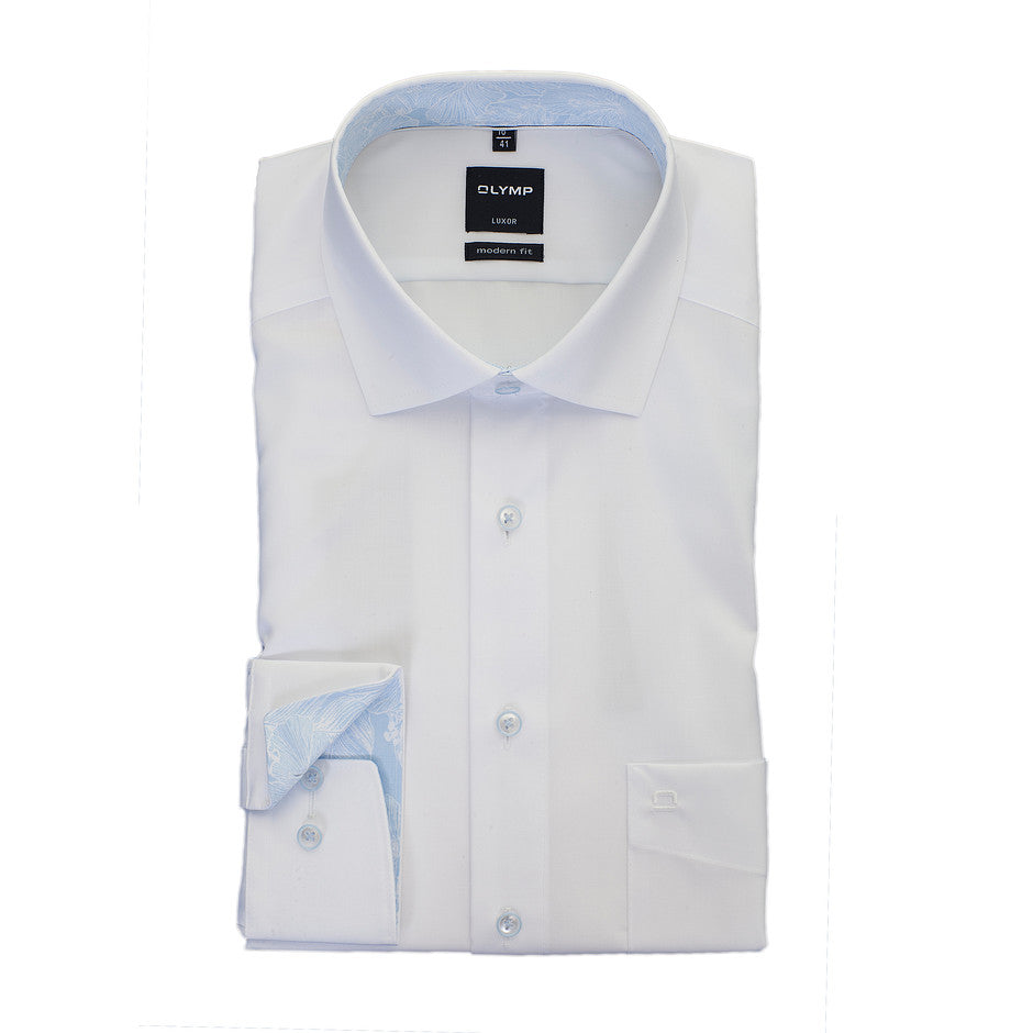 Luxor Modern Fit Shirt for Men in White