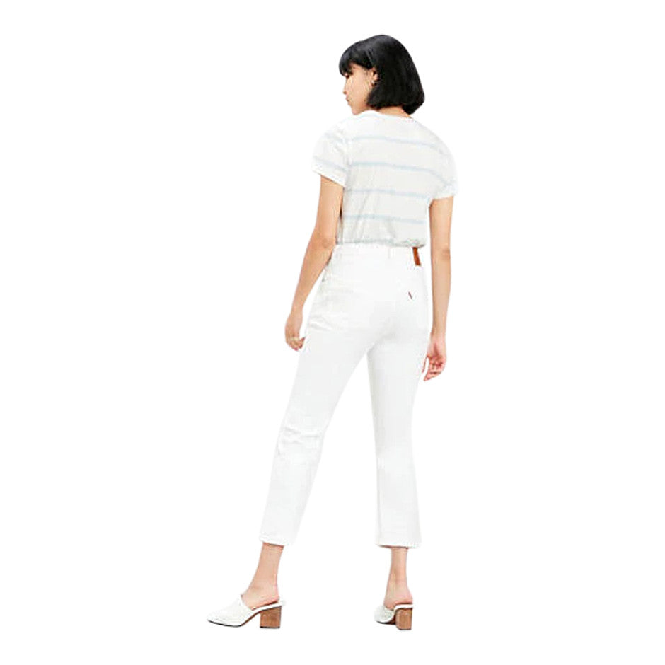 501 Original Cropped Jeans for Women in White