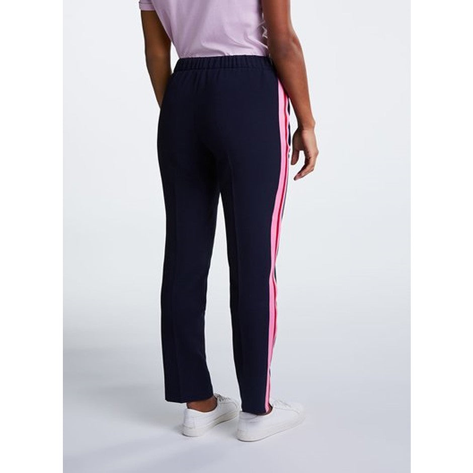 Relaxed Joggers with Side Stripes for Women in Navy
