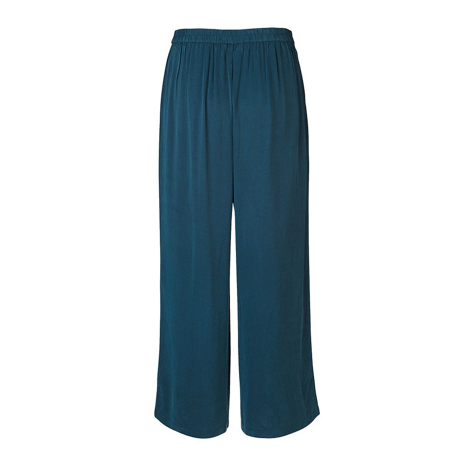 Ganda Cropped Culottes for Women in Blue