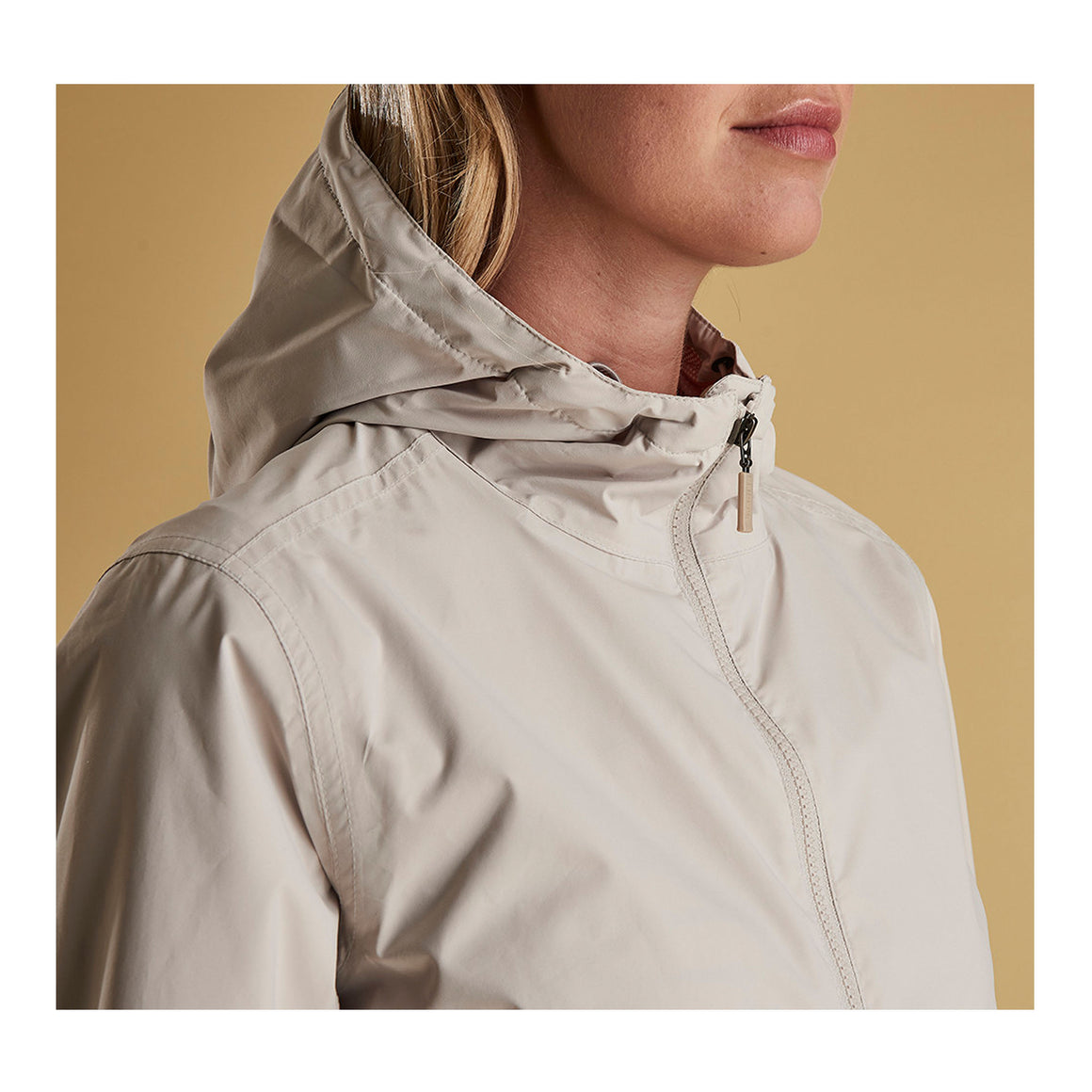 Abrasion Waterproof Breathable Jacket for Women in Mist/ Vintage Rose