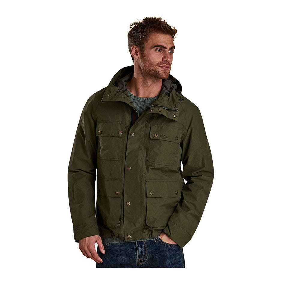 Hallow Waterproof Breathable Jacket for Men in Olive