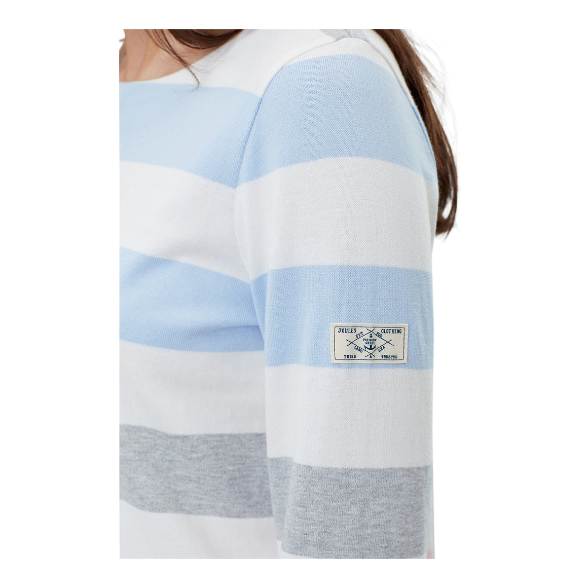 Striped Harbour Jersey Top for Women in Blue