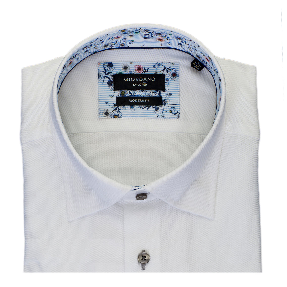 Formal Textured Shirt for Men in White