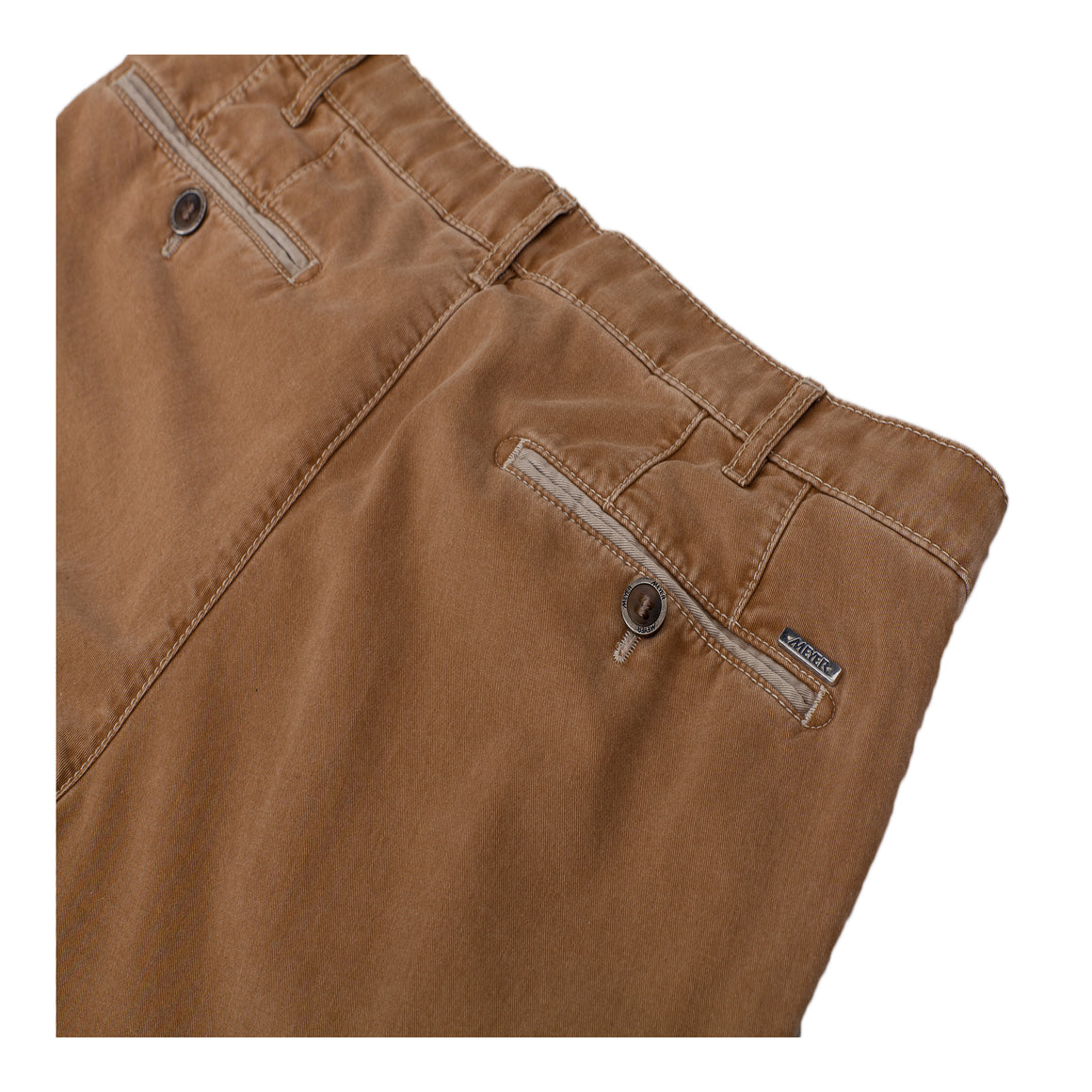 New York Soft Twill Trousers for Men in Tan