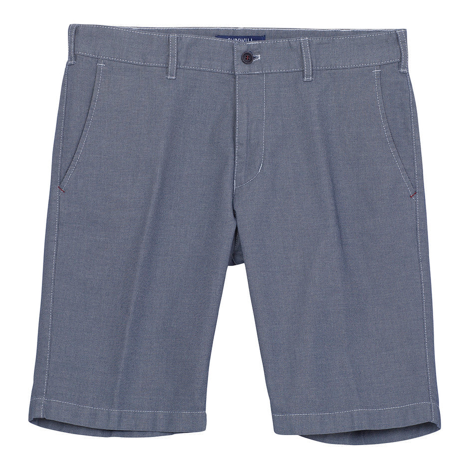 Textured Tailored Shorts for Men in Blue