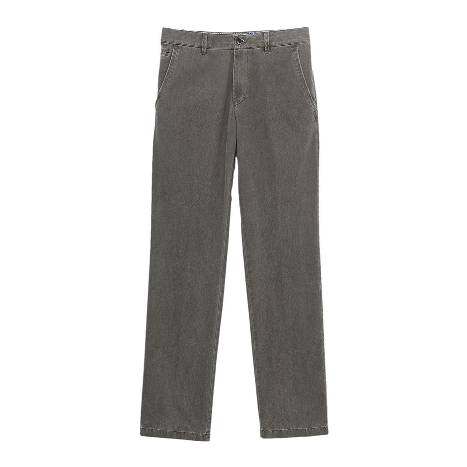 Textured Chinos for Men in Olive