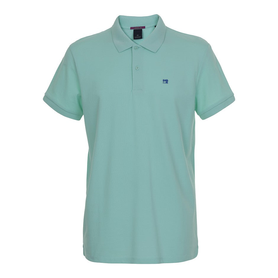 Classic Pique Polo Shirt for Men in Mint Mirage