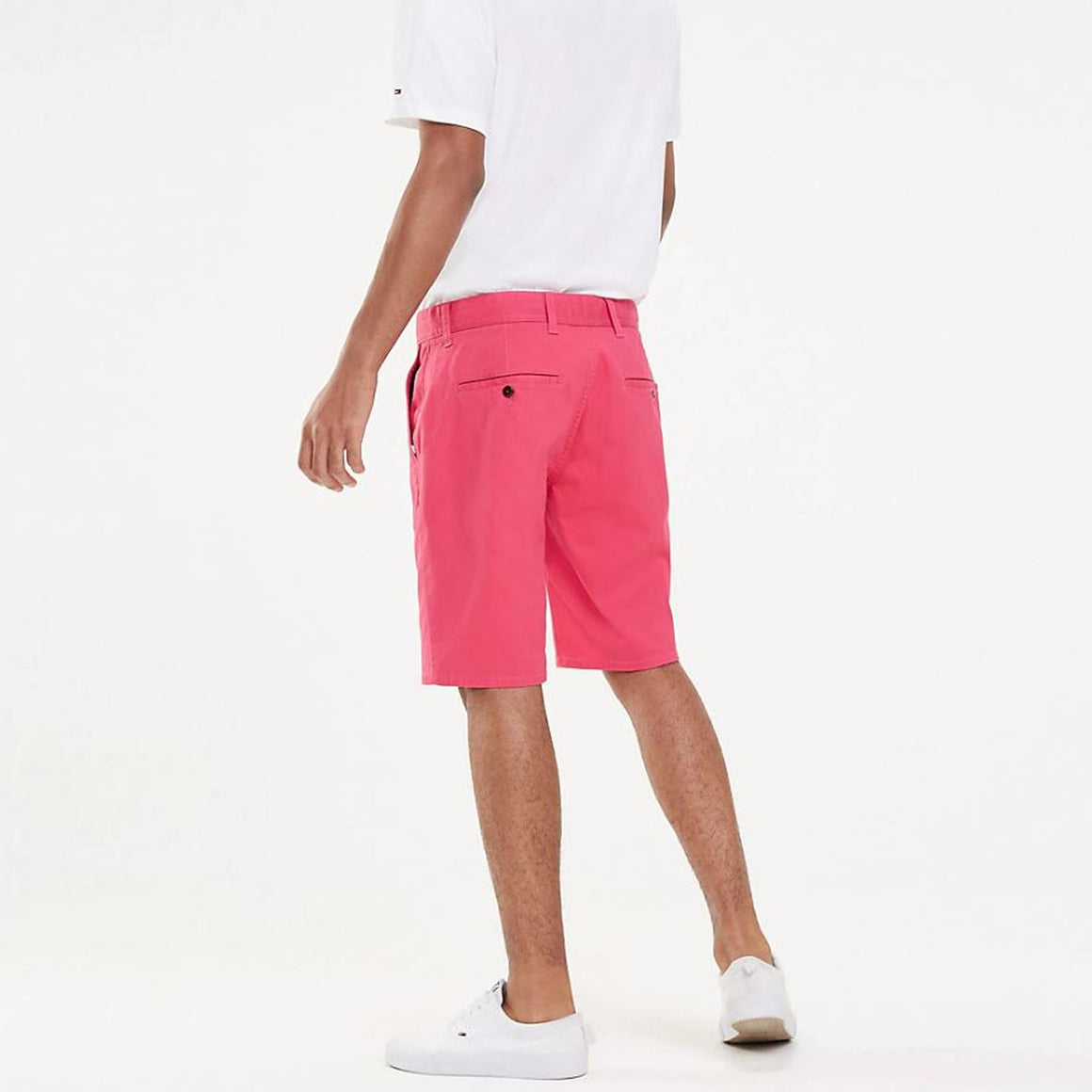 Regular Chino Shorts for Men in Fuchsia Purple