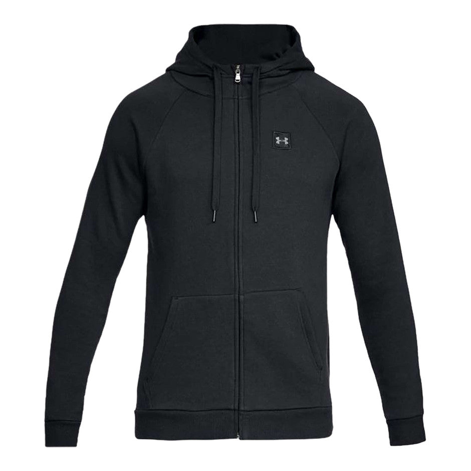 Riveal Fleece FZ Hoodie for Men in Black
