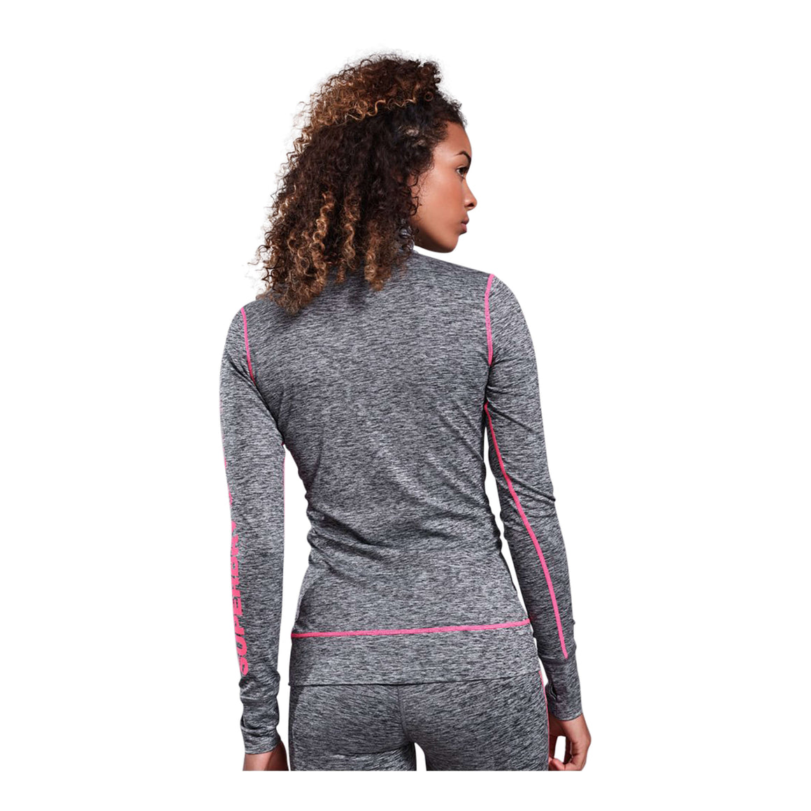 Performance Reflective Half Zip Top for Women in Black Marl