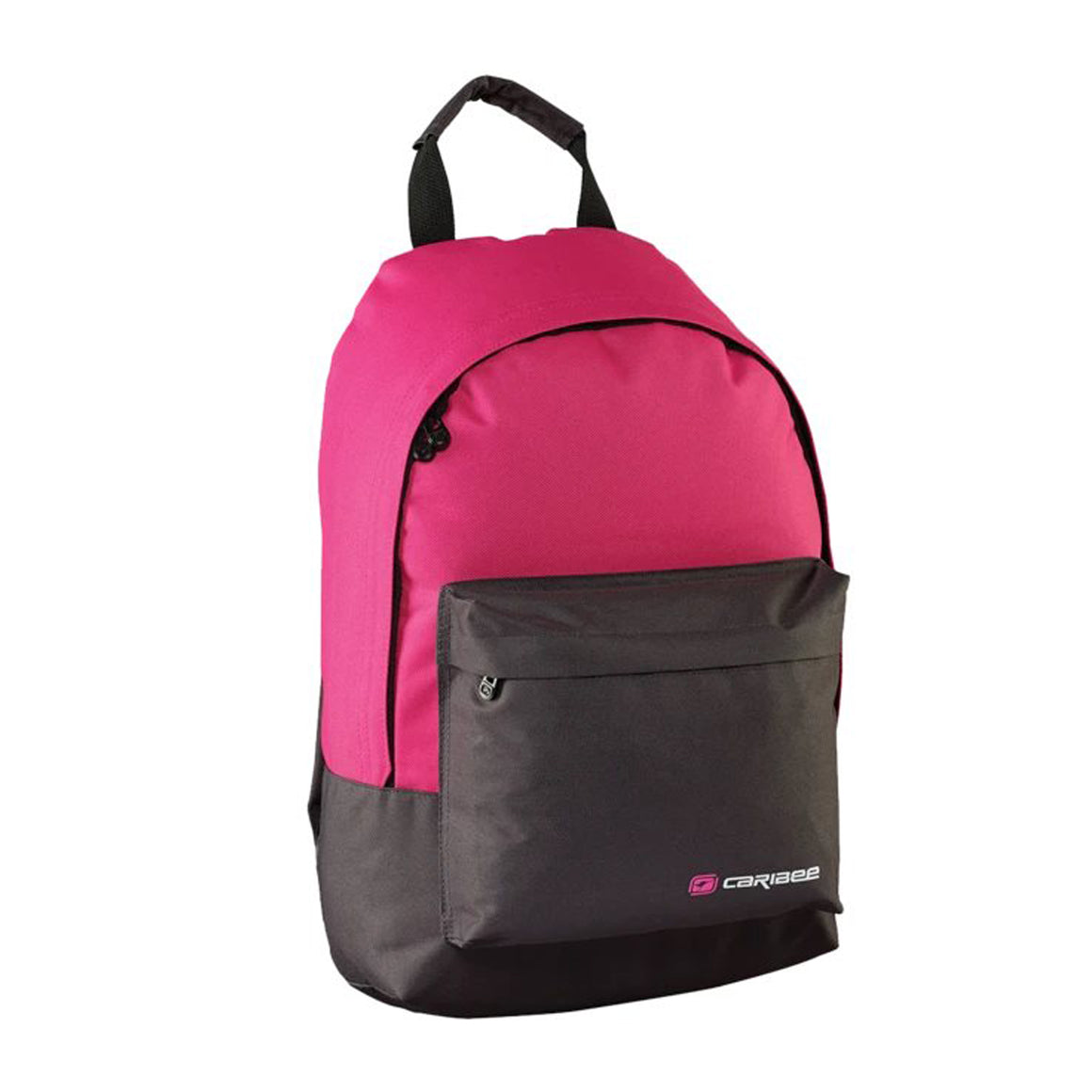 Campus Backpack in Charcoal & Pink