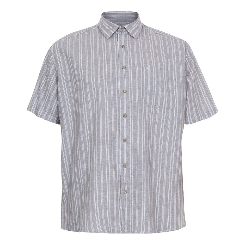Short Sleeve Shirt for Men in Stone Stripe