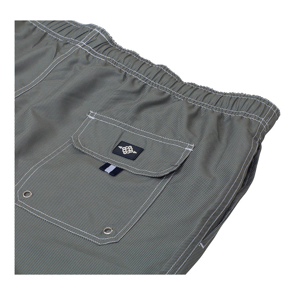 Plain Swim Shorts for Men in Stone