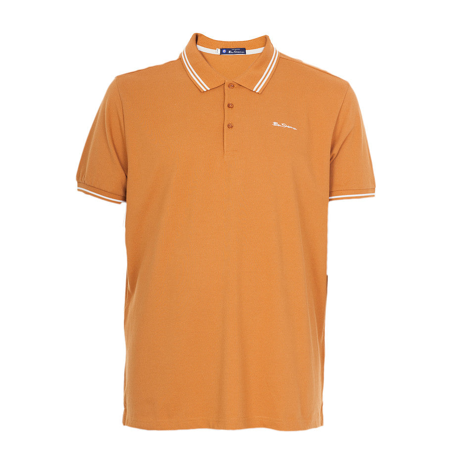 Plain Polo Shirt for Men in Burnt Orange