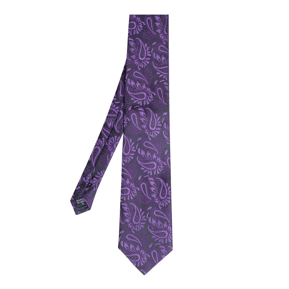 Extra Long Polyester Tie for Men in Lilac