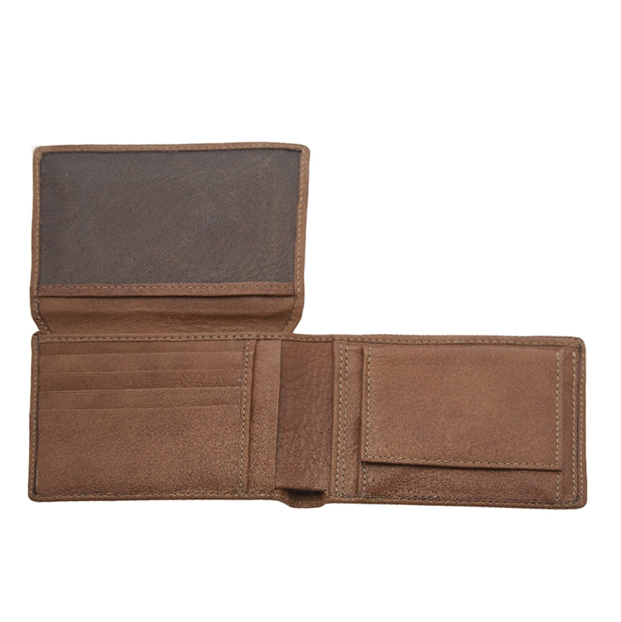 Mens Leather Wallet in Natural Leather