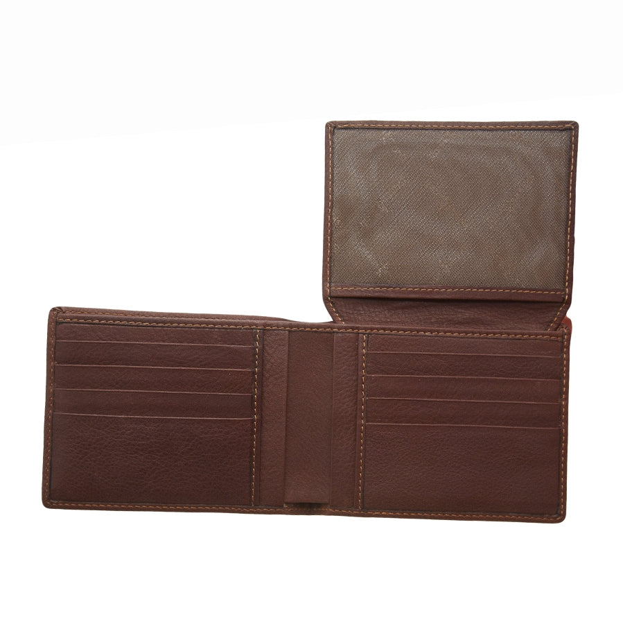 Mens Leather Wallet in Brown