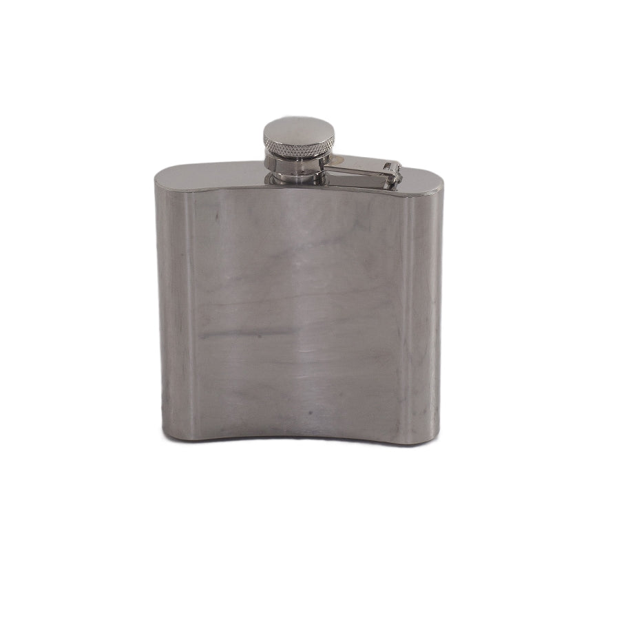 Polished Steel 6 oz Flask