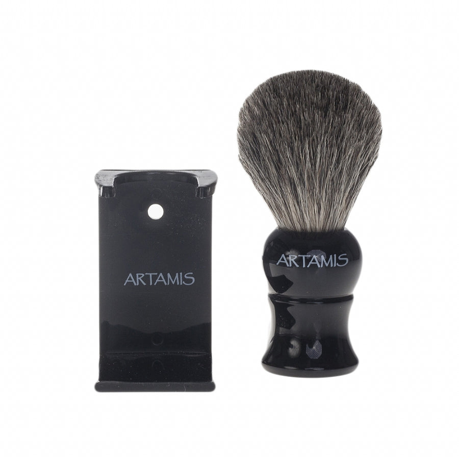 Mens Mixed Badger Shaving Brush in Black