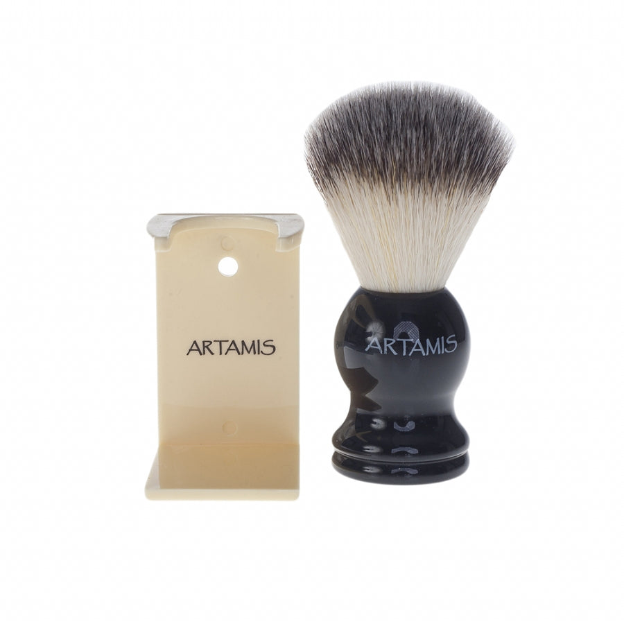 Mens Synthetic Shaving Brush in Ivory