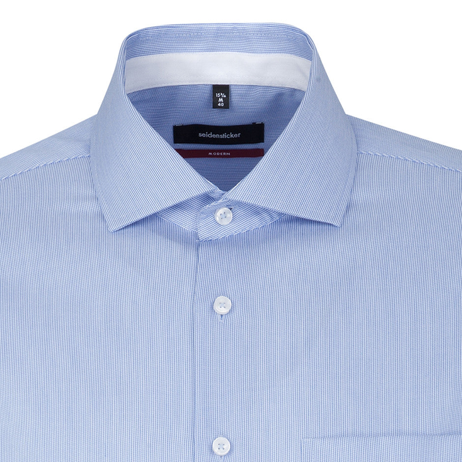 Modern Fit Formal Shirt for Men in Blue