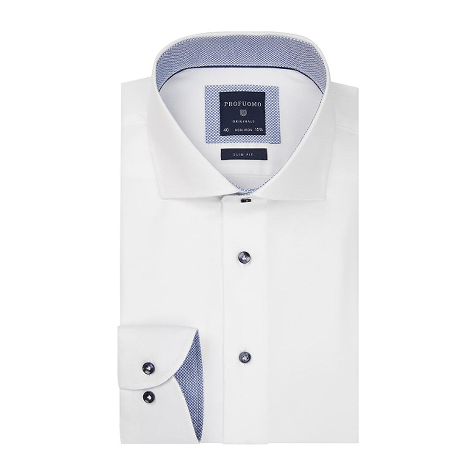 Profuomo Formal Shirt for Men in White
