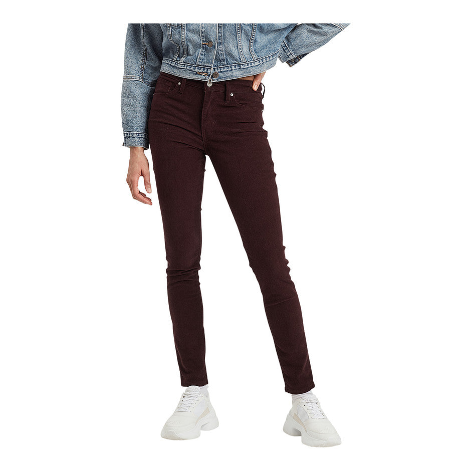 721 High Rise Skinny Jeans for Women in Malbec Luxe Cord Red