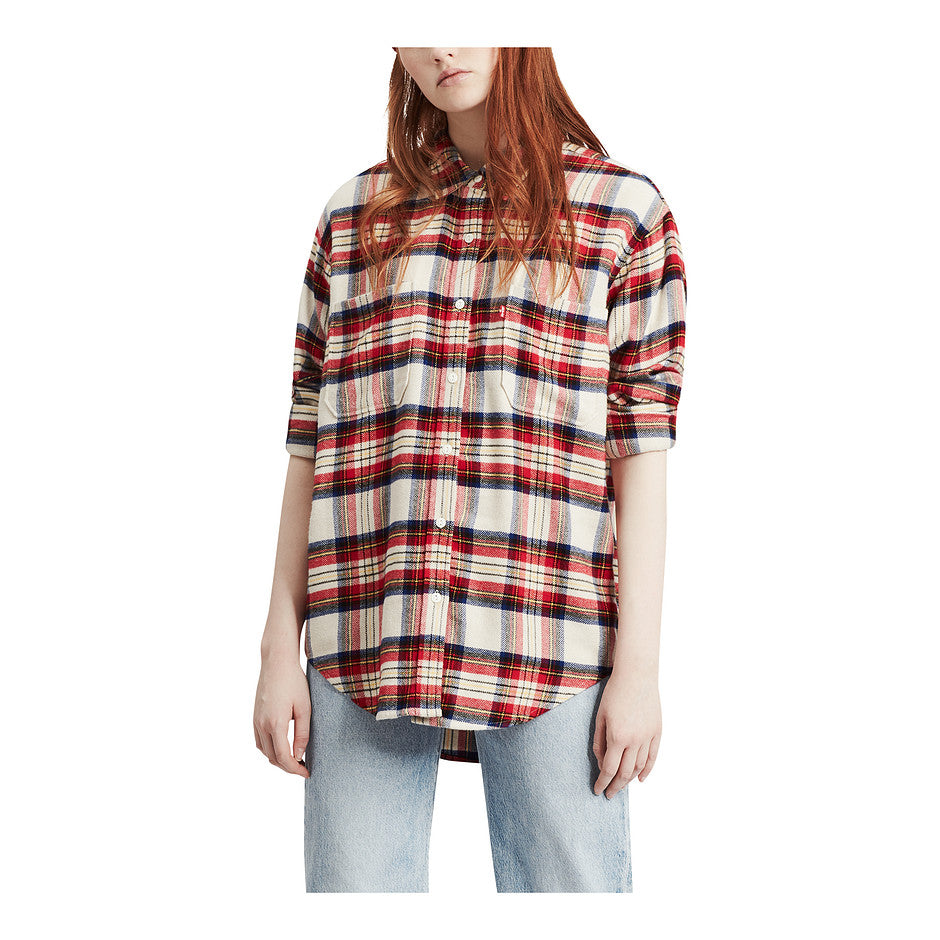 Utility Shirt for Women in Red Check