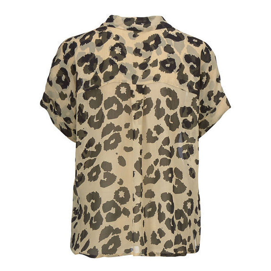 Ieva Blouse for Women in Leopard Print