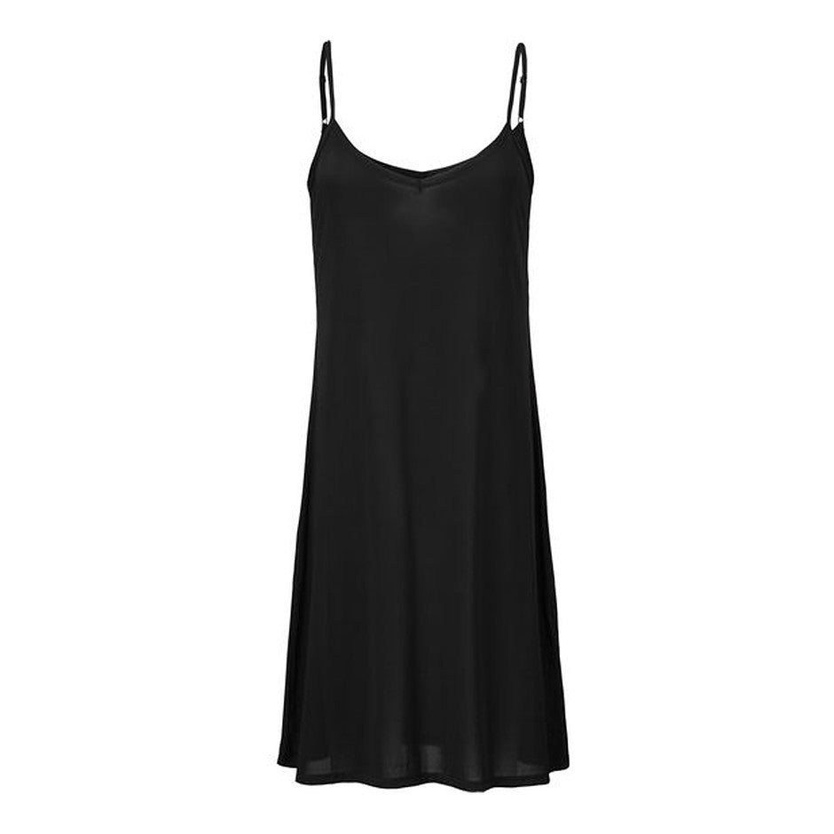 Heidi Slip Tunic Dress for Women in Black