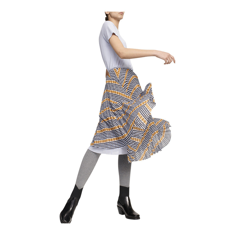 Juliette Pleated Skirt for Women in Inca Check