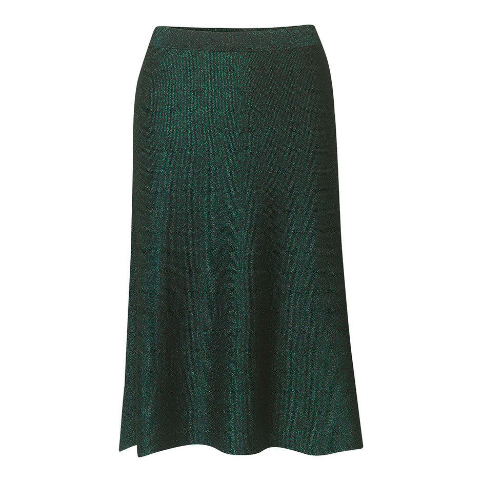 Maddie Midi-Length Skirt for Women in Sea Moss Green