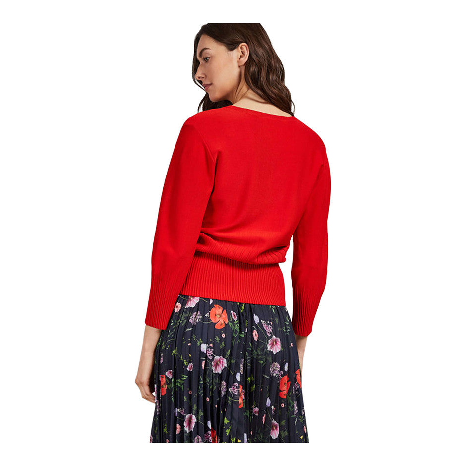 Lornini Bell Sleeve Knit for Women in Bright Red