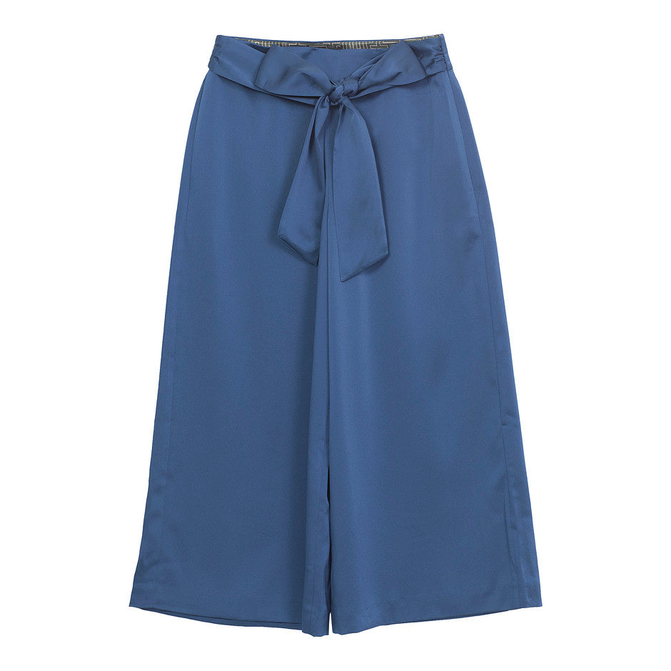 Theorda Tie Waist Culottes for Women in Teal