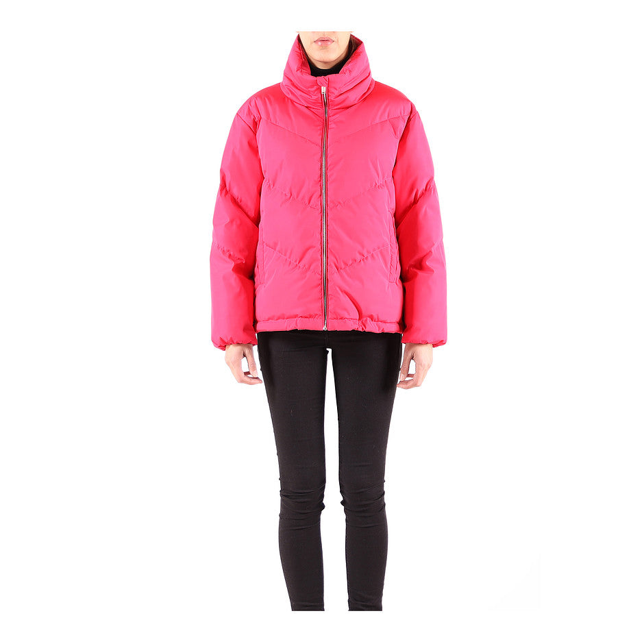 Hally Fluro Padded Coat For Women In Raspberry