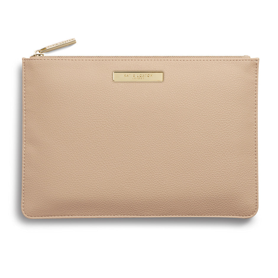 Perfect Pebble Pouch for Women in Tan