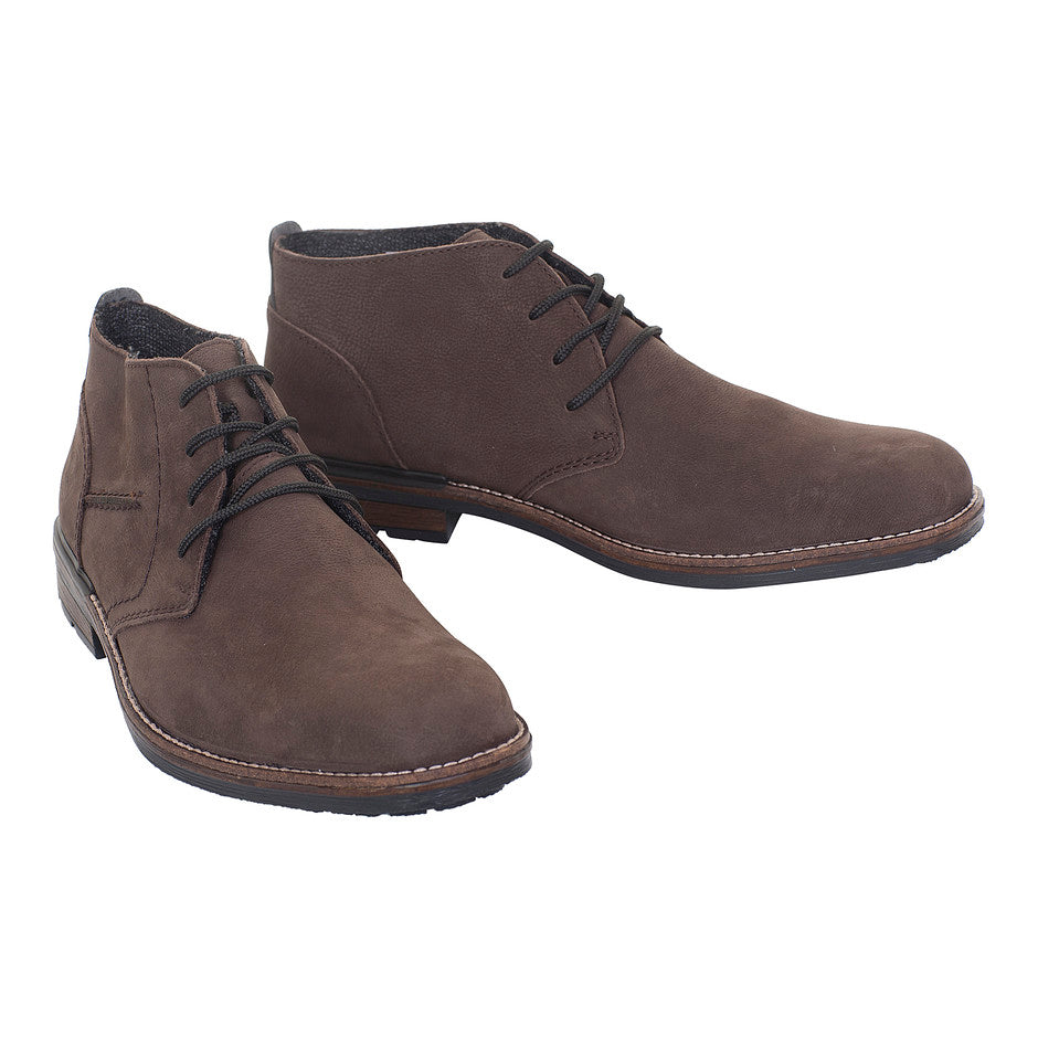 Casual Lace Up Boot for Men in Brown