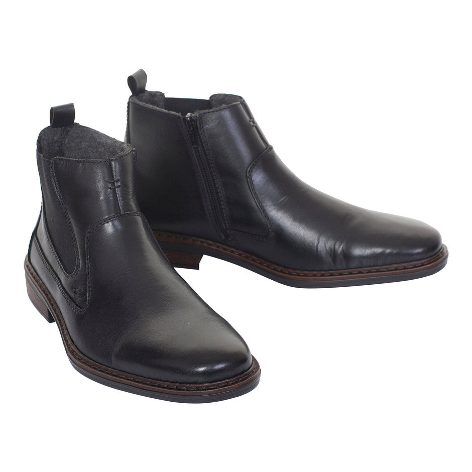 Casual Slip On Ankle Boots for Men in Black