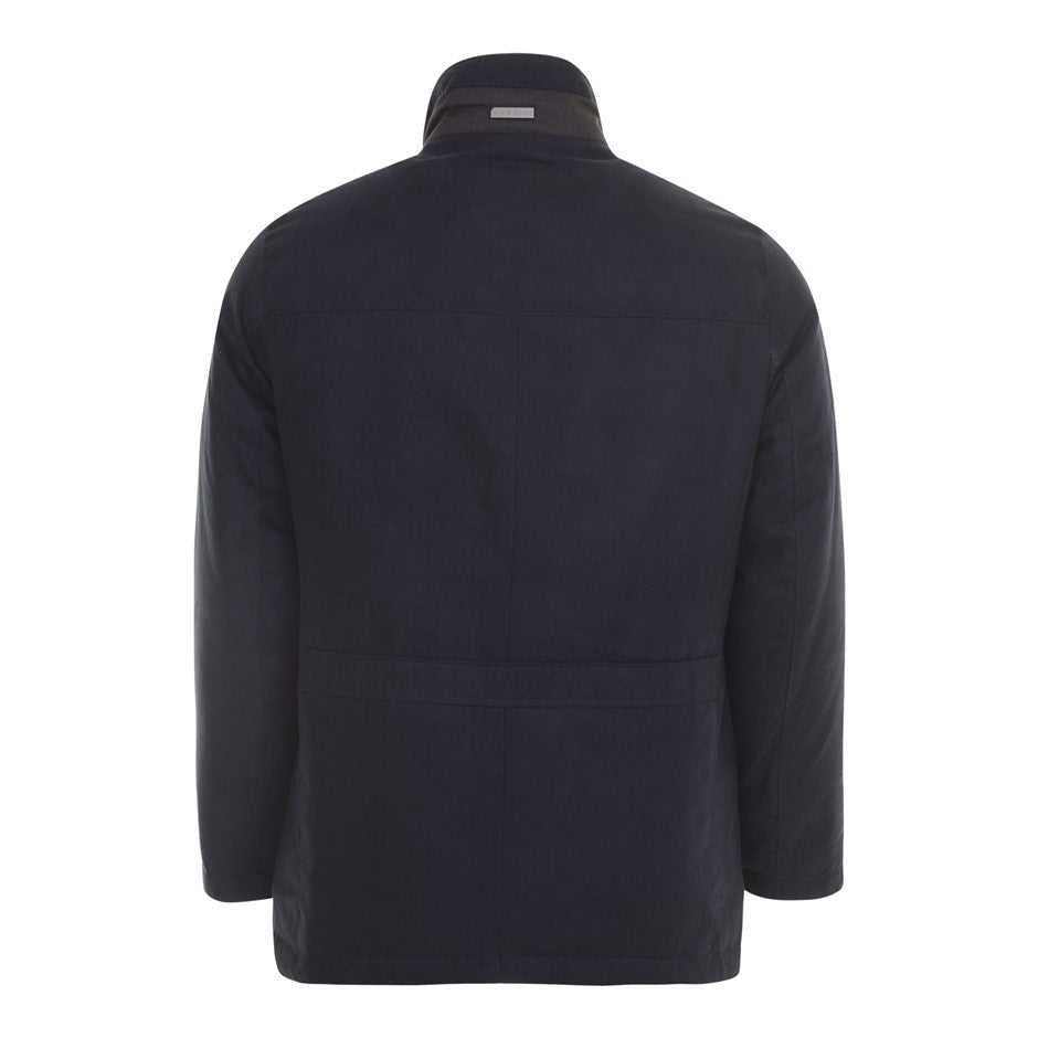 Velour Coat for Men in Navy