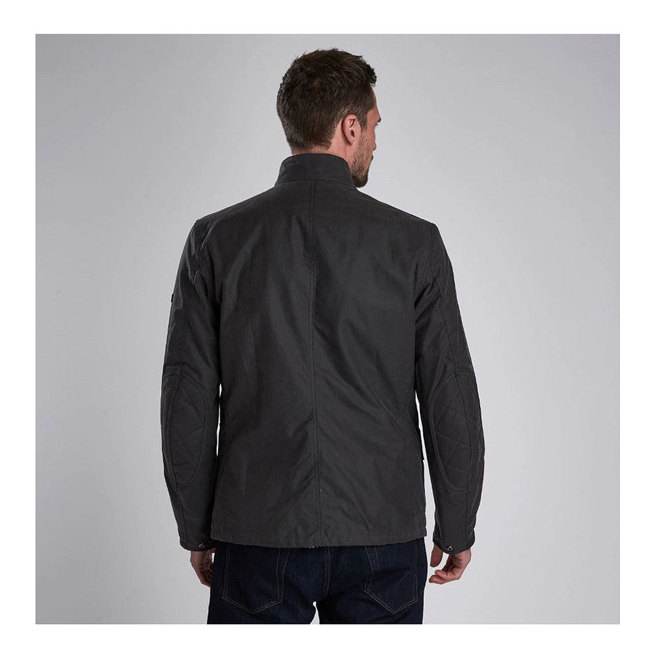 Leonards Waxed Cotton Jacket for Men in Charcoal