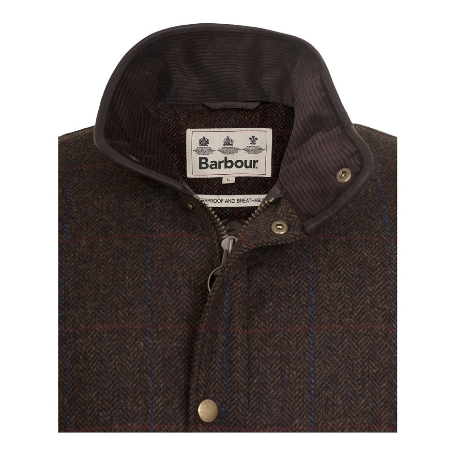 Tweed Hereford Wool Jacket for Men in Olive