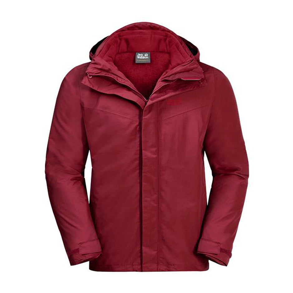 Gotland 3in1 Hardshell Jacket For Men In Dark Lacquer Red