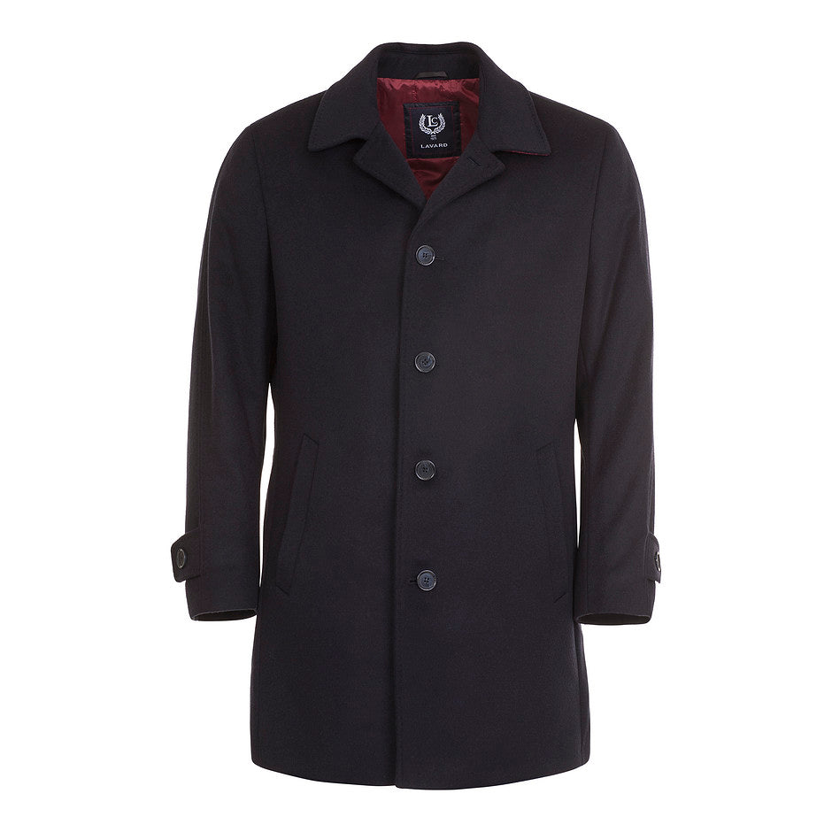 Single-breasted Overcoat for Men in Navy