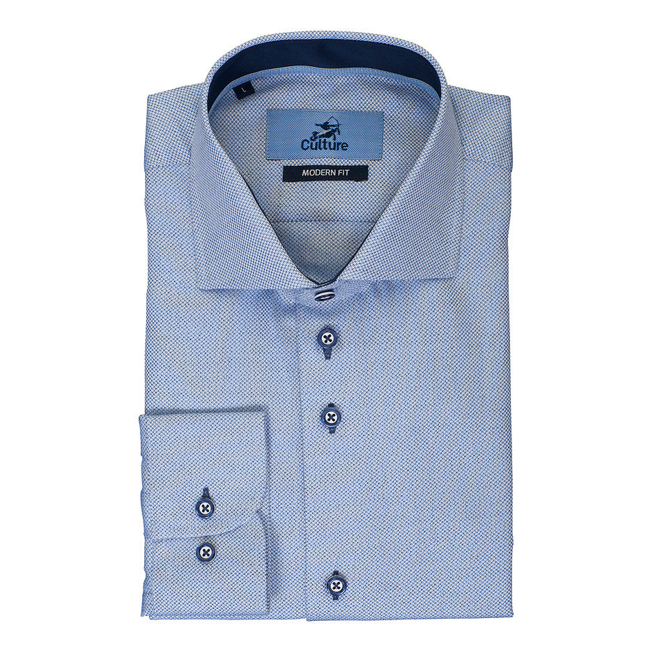 Textured Shirt for Men in Sky