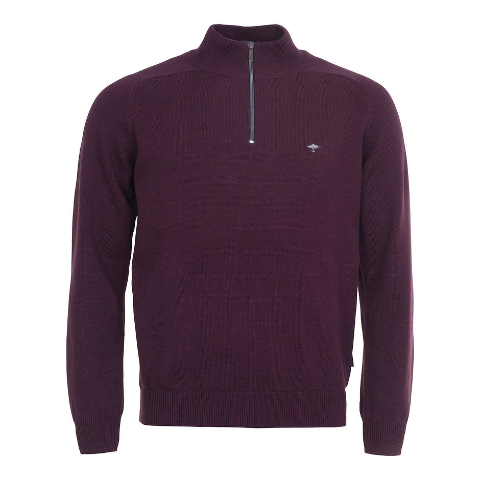 Supersoft Cotton 1/4 Zip for Men in Burgundy