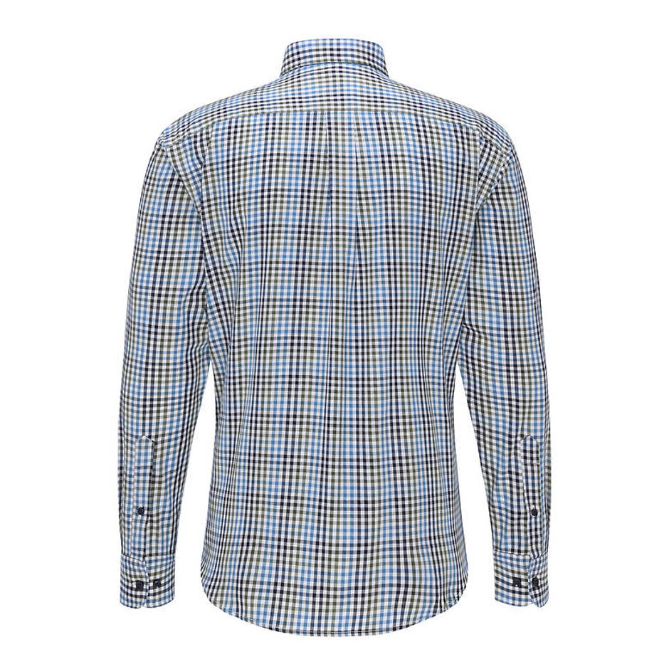 Multi-Coloured Combi Check Shirt for Men in Green